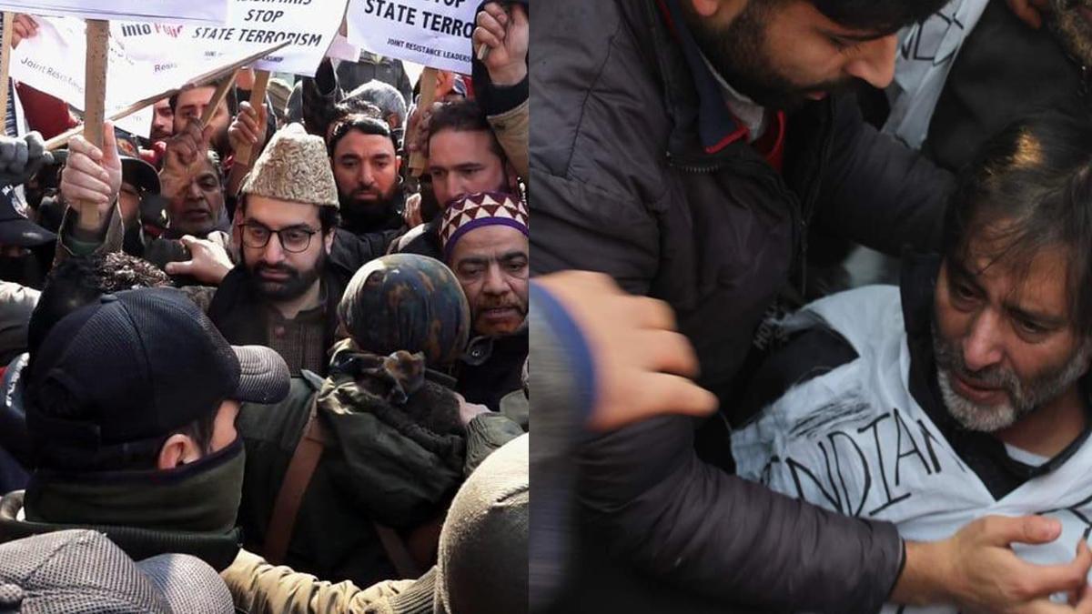 Indian police arrest Yasin Malik, Mirwaiz during march in Srinagar
