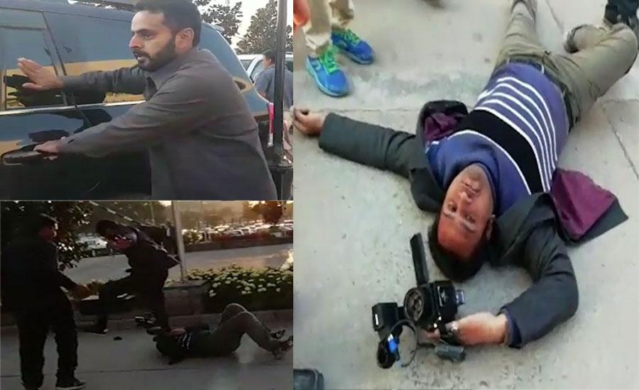 Nawaz Sharif's guard 'tortures' TV cameraman outside NA