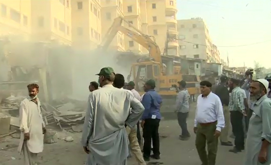 Anti-encroachments operation continues in Karachi