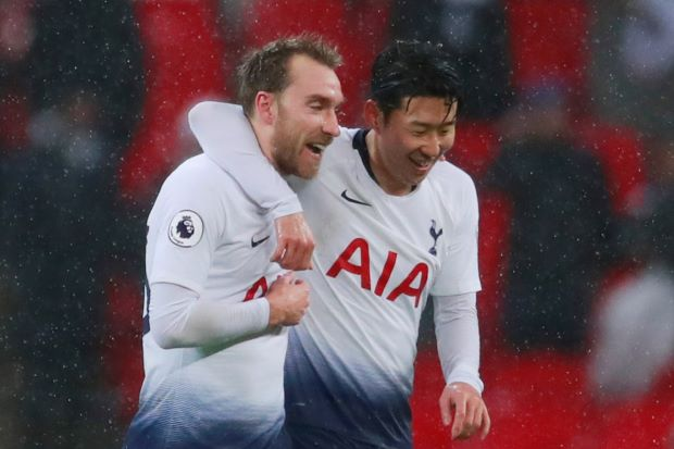 Footballer Eriksen strike gives Spurs last-gasp Burnley win