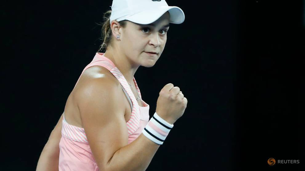 Barty party continues with Sakkari win