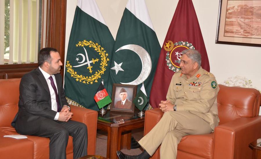 Afghan Ambassador Shukrullah Atif calls on COAS Gen Qamar Bajwa