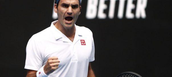 Federer, Evans, Australian Open