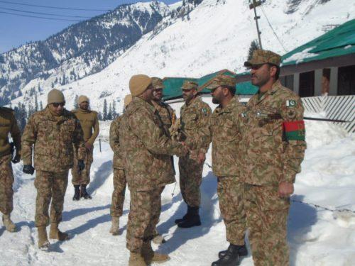 Rawalpindi Corps Commander  Gen Bilal  Nekrun  Shahkot Sectors  LoC  ISPR