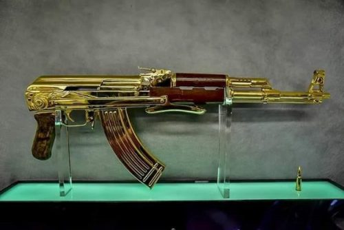 gold Kalashnikov Imran Khan PM PM Imran Khan Prince Fahad bin Sultan bin Abdul Aziz