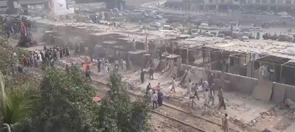 KMC anti encroachment illegal construction krachi's Hill park Gharibabad KCR