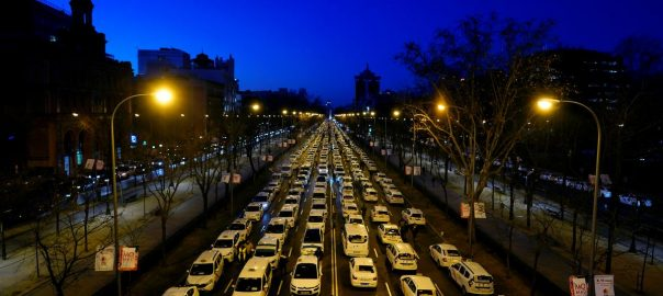 Madrid Uber drivers Uber Protest Spain