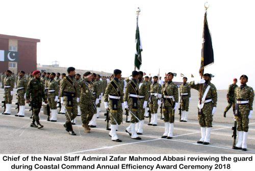 "Vice Admiral Muhammad Fayyaz Gilani  ""Seaspark 2018""  Pakistan Navy  Admiral Zafar Mahmood Abbasi  CPEC Project  Gwadar Port  Efficiency Competition Parade  PNS QASIM  Coastal Command"