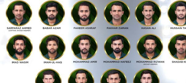 United Arab Emirates Amir Shan Masood Hussain Talat and Mohammad Rizwan Asif Ali Haris Sohail Junaid Khan Imad Wasim and Faheem Ashraf as all-rounders and Shadab Khan Sarfaraz Ahmed the squad has Fakhar Zaman Imam-ul-Haq Masood Babar Azam Shoaib Malik Mohammad Hafeez and Talat ICC Pakistan South Africa PCB