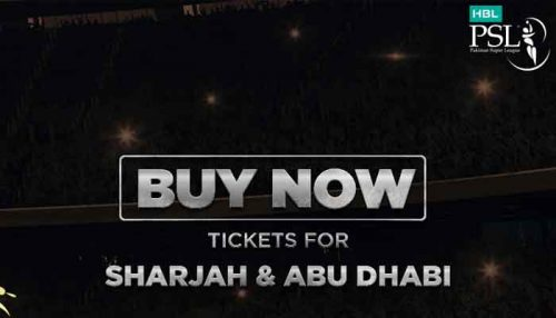 Tickets for PSL matches in Sharjah, Abu Dhabi available online