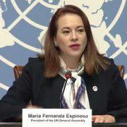 UNGA Maria Fernanda Espinosa UNGA President Pmimran khan President Dr Arif ALvi