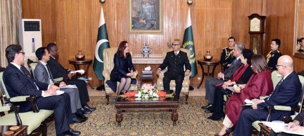 UNGA President, Maria Fernanda, President Arif Alvi, Kashmir, SDGs, UN Peacekeeping Missions