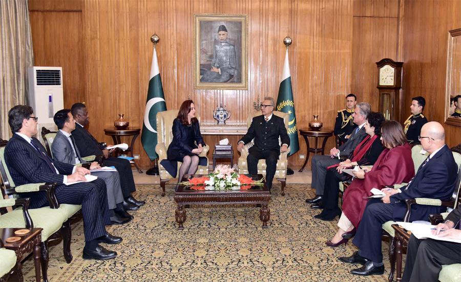 UNGA President Maria Fernanda calls on President Arif Alvi
