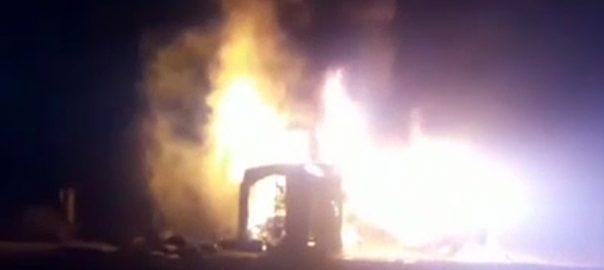 Hub accident coach-truck collision Hub lasbela