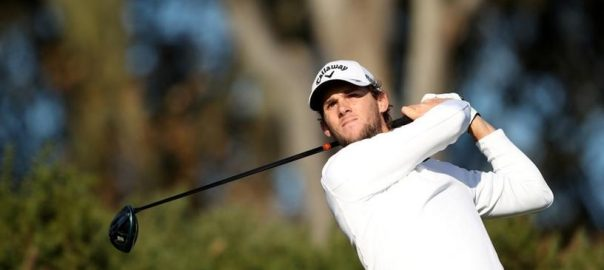 Golf, Pieters, lead, Saudi International