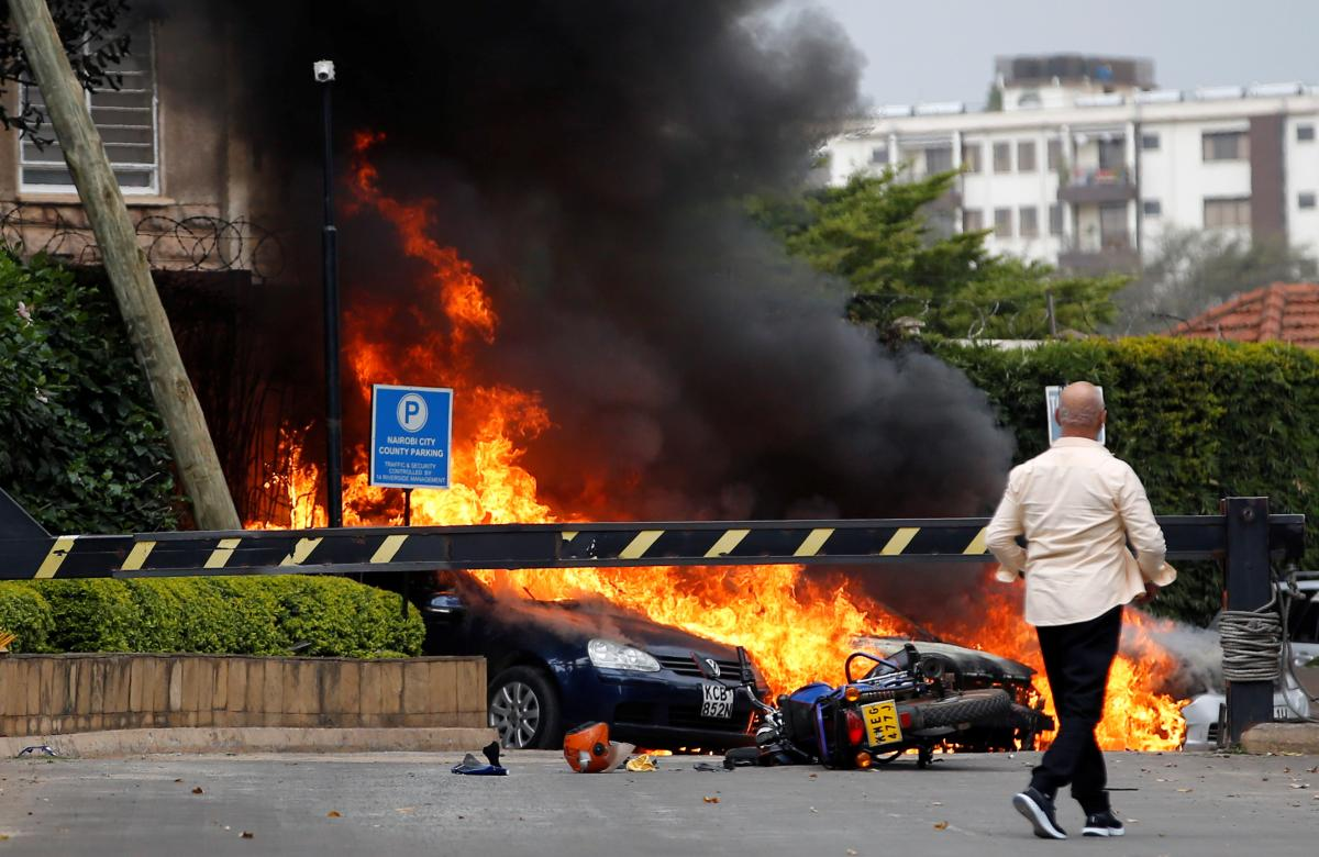 Gunmen kill 15 in Kenya hotel compound attack claimed by Somali Islamists