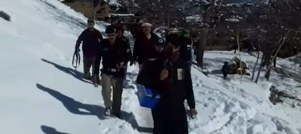 anti-polio, drive, snow, Chitral