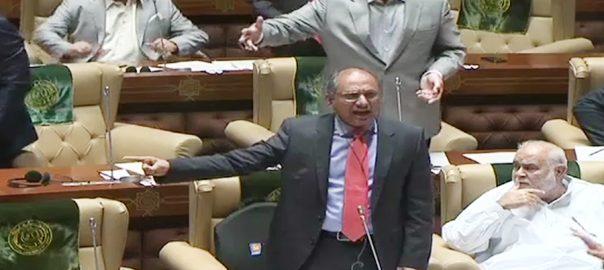 Sindh Assembly Saeed Ghani PPP PTI Haleem Adil Sheikh Firdous SHamim Naqvi GDA