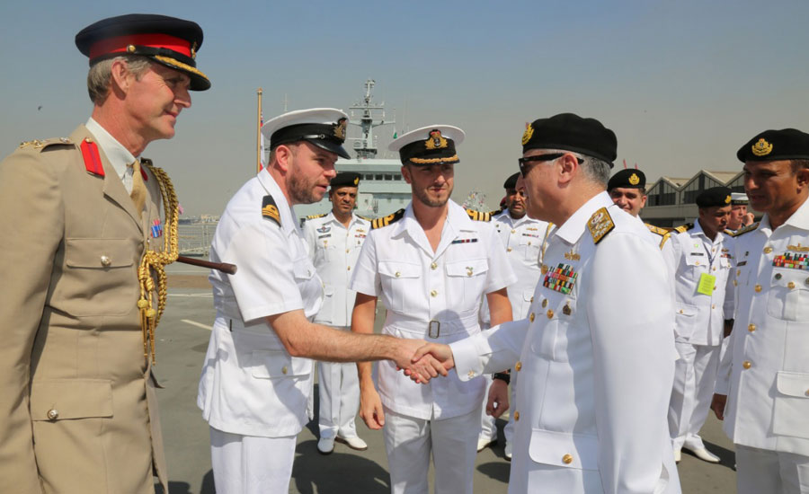 AMAN 2019: CNS visits foreign navy ships