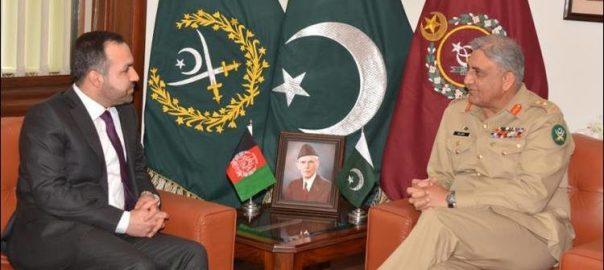COAS gen Qamar Javed Bajwa Afghanistan envoy Afghanistan Ambassador to Pakistan Shukrullah Atif Mashal