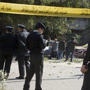 cairo cairo blast Two policemen policemen killed ministry explosive device Giza Egyptian Egypt Al-Azhar Mosque Al-Azhar universtiy