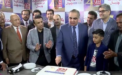 cake 92 news Islamabad fawad peer Noorul haq Imran ismail Sindh Governor Minister for information Karachi