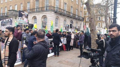 FO Kashmir day kashmir solidarity day kashmir bleeds amnesty Kashmiri people London protest