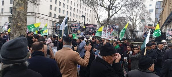 FO Kashmir day kashmir solidarity day kashmir bleeds amnesty Kashmiri people London protest