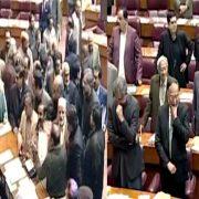 NA Khursheed Shah NA session Agha Siraj Durrani opposition