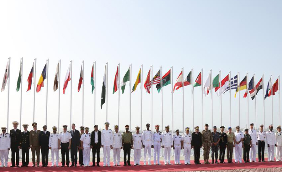 Flag hoisting ceremony opens 6th Multinational Maritime Exercise AMAN 19