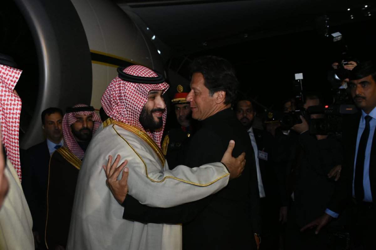 Saudi Crown Prince receives warm welcome on historic trip to Pakistan