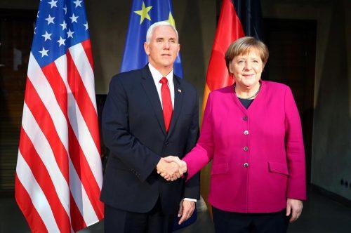 Pence, EU, Merkel, Russia