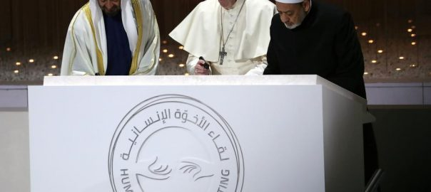 Pope, 'armed power', Yemen, Syria Middle