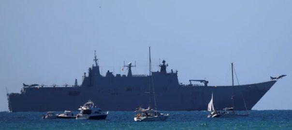 Spanish warship Spanish British Waters Gibraltar