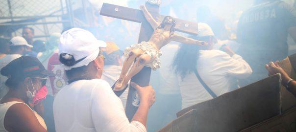 Venezuela tear gas colombia protest