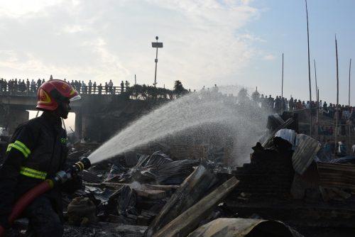 Bangladesh, slum, fire, eight