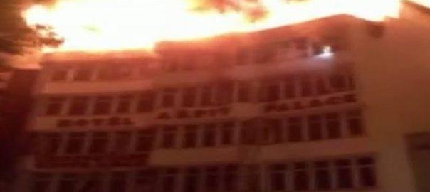 Fire, Delhi, hotel, nine