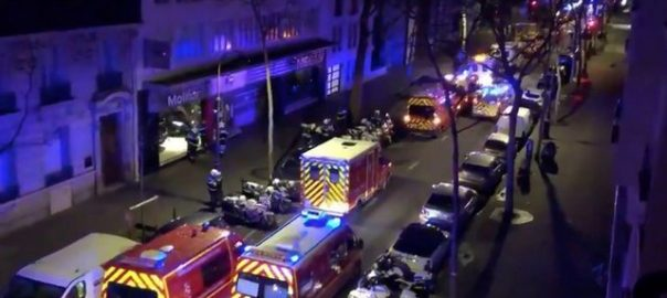 Fire, wealthy, Paris, seven, injured