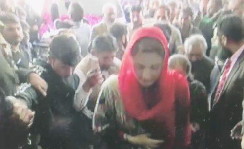 Maryam  Maryam Nawaz  Jinnah Hospital  camera  TV camera