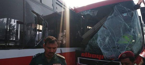 Woman, injured, Metro, bus, Lahore