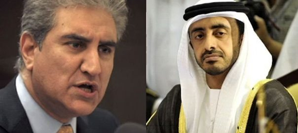 FM Qureshi makes telephonic contact with UAE FM Sheikh Abdullah bin Zayed Al Nahyan