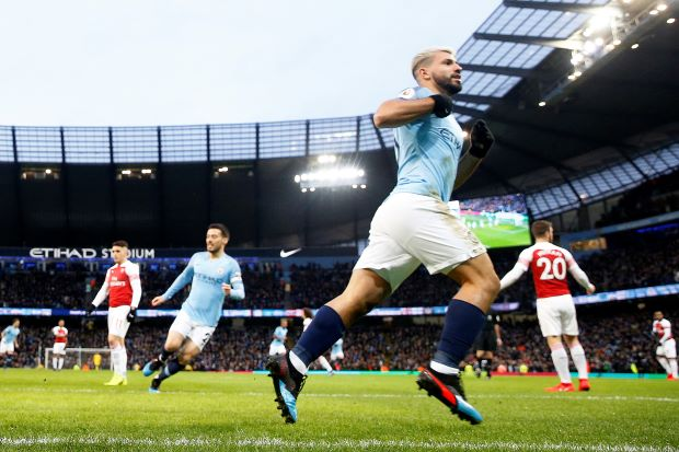 Aguero hat-trick fires Man City to 3-1 win over Arsenal in Premier League