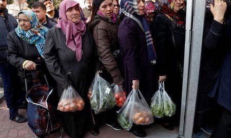 turkey erdogan vegetables economy financially unsustainable election lira