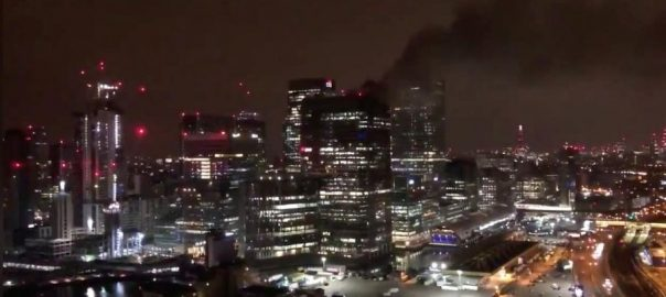 BLAZE FIREFIGHTER London's Canary Wharf INJURIES FIRE BRIGADE
