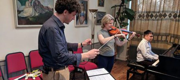 Haptic baton Musicians blind musicians haptic baton