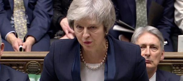 British PM, May, defeated, Brexit, parliament