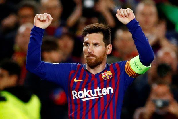 Messi leads demolition of Lyon to take Barca through