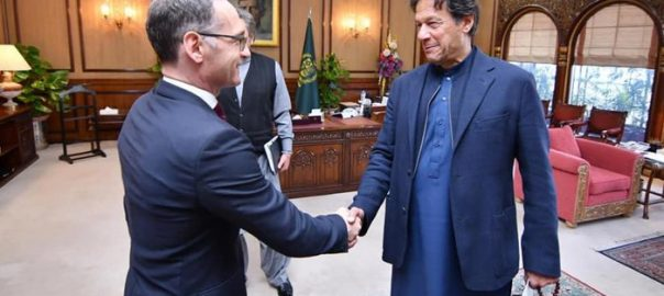 German Foreign Minister Pm Imran Khan Pak-India escalation Shah Mehmood Qureshi FM Foreign Minister Heiko Maas Imran Khan prime minister