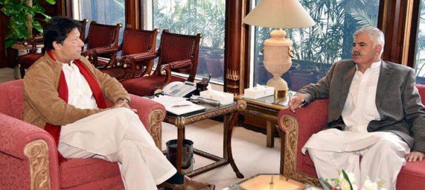 Imran khan KP Chief minister Mehmood Khan TRT Bus