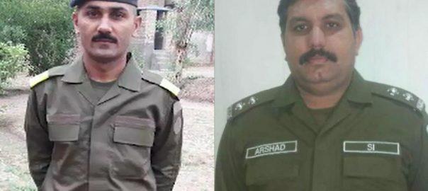 Cops, martyred, encounter, kidnappers, Liaquatpur